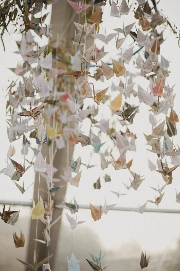 Cascading Origami Wedding Installation Wedding