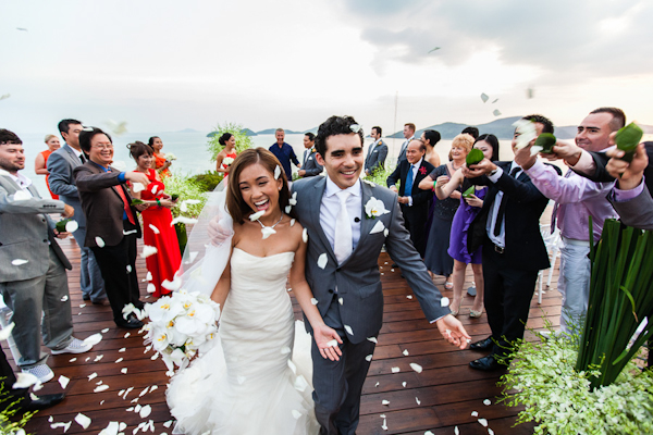 colorful and joyful wedding in Phuket, Thailand with photos by Julian Wainwright Weddings | via junebugweddings.com