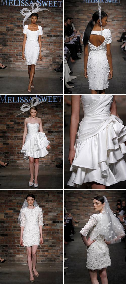 short wedding dress from Melissa Sweet, spring 2011 runway