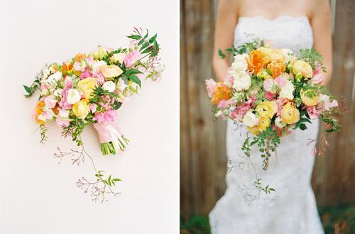Colorful Springtime Bridal Bouquet Inspiration