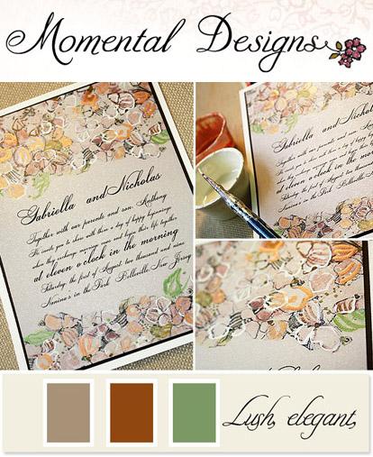 Custom Hand Painted Wedding Invitations From Momental