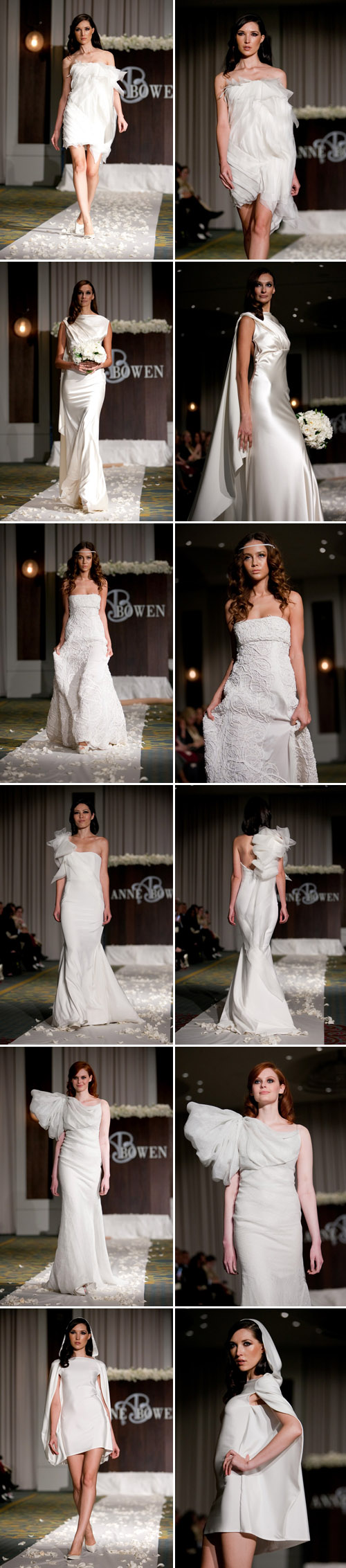 Anne Bowen Spring 2011 wedding dress colleciton from NY Bridal Market, photos by John and Joseph Photography