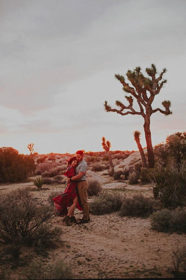 Passionately Romantic Desert Anniversary Photo Shoot In Joshua Tree Junebug Weddings