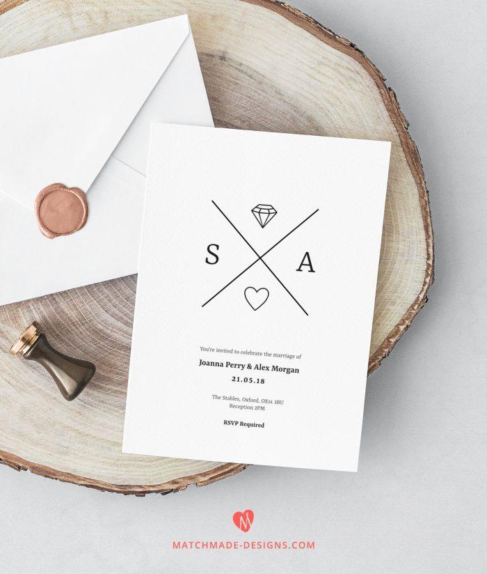 60 stunning simple wedding invitations