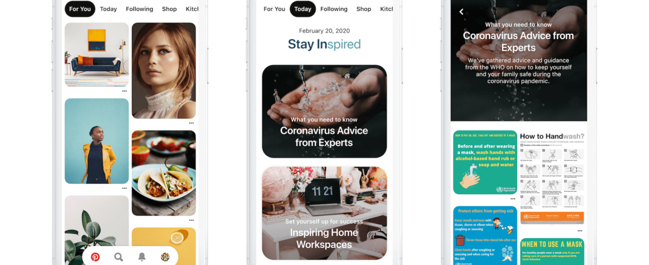 Pinterest Launches Today Tab for Inspiration