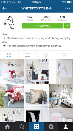 Jen from White Fox Styling posts images of her home and her projects - both gorgeous. ....I mainly follow her for her cats.