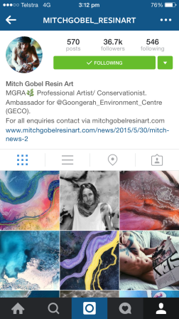 Mitch Gobel is a 25 year old artist from Melbourne, Australia. Mitch is a passionate conservationist - and now founding Director of MGRA Wildlife and Habitat Conservation. MGRA Wildlife and Habitat Conservation is funded entirely by Mitch's art. Not only is he a fascinating human being to follow, but each piece is a fruit of his passion. http://www.mitchgobelresinart.com