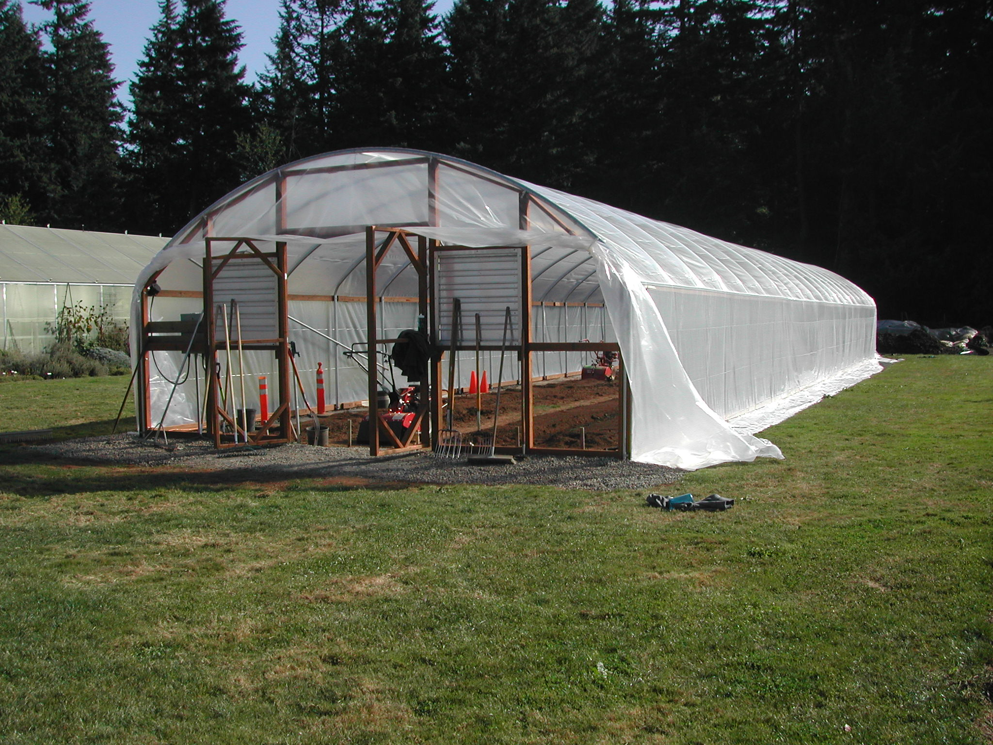 This is the hoop house for the Autumn Food Growing class