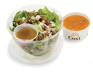 Cosi's Calorie-Loaded Signature Salad | June's Journal