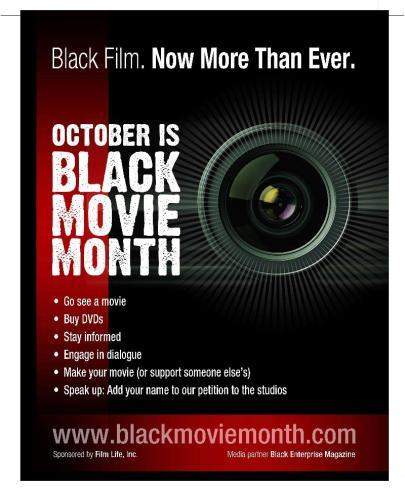 October is Black Movie Month | June's Journal