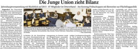 Deggendorfer Zeitung 23.02.2016