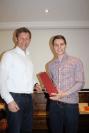 Vorsitzender Matthias Meindl bedankt sich bei Thomas Erndl für das Impulsreferat