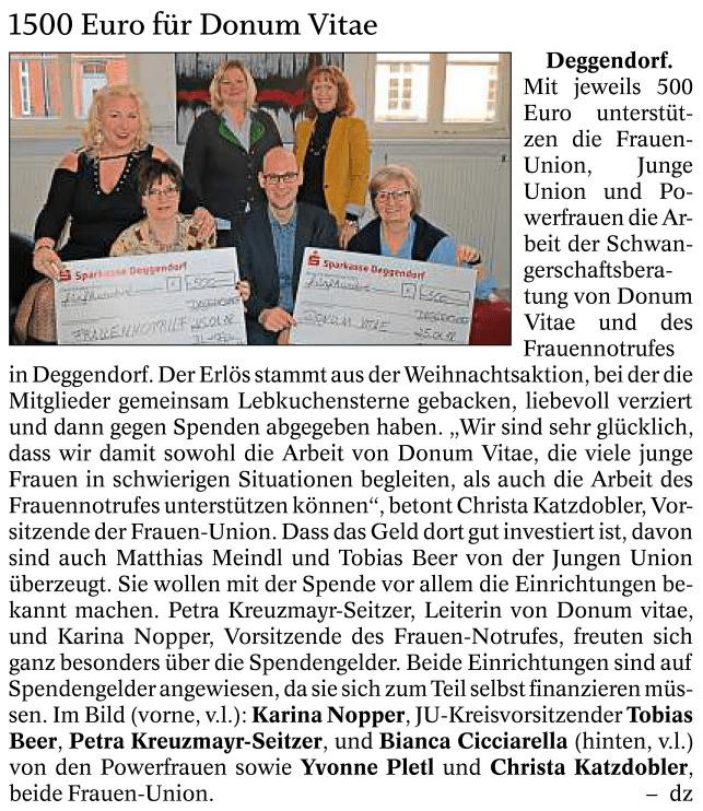 Deggendorfer Zeitung 01.02.2018