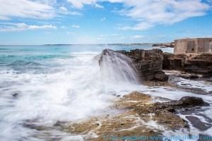 Wellen am Strand von Es Trenc - Bewegungsunschärfe