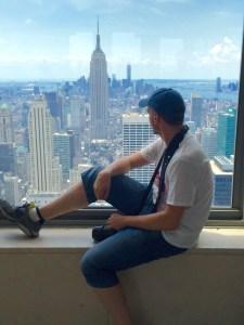 Der Author steigt den New Yorkern aufs Dach