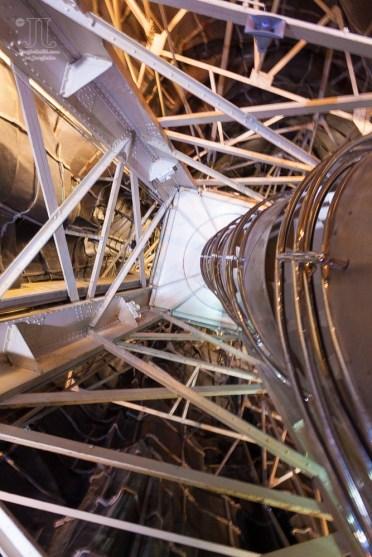 Dieses Stahlfachwerk stützt die Freiheitsstatue. Es wurde von Gustav Eiffel erdacht.