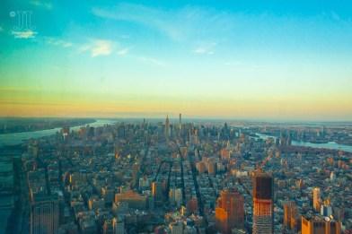 Das Licht wechselt sekündlich während des Sonneruntergang über New York. http://junghahn24.com/finale-in-new-york/