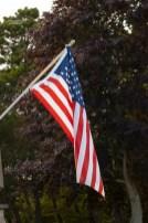 Die US Flagge ist an jedem Haus zu sehen, so auch an unserem Haus am See.