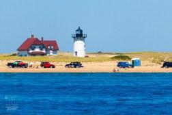Strand mit Leuchtturm während wir Wale suchten