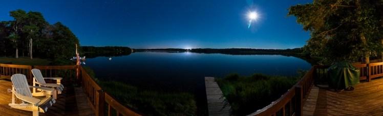 Nachts am See (Panorama)