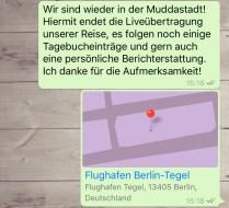 Heimreise - Textnachricht