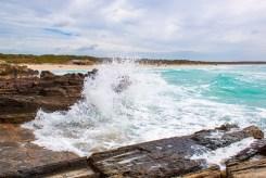 Dieser Splash ist am Strand von Es Trenc auf Mallorca entstanden.