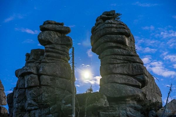 Der Mond spielte schon am Monatsanfang seine erste Hauptrolle am Himmel im September 2020