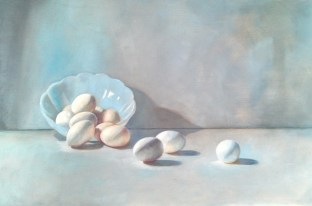 Un Oeuf is Enough. Oil on panel, 2012.