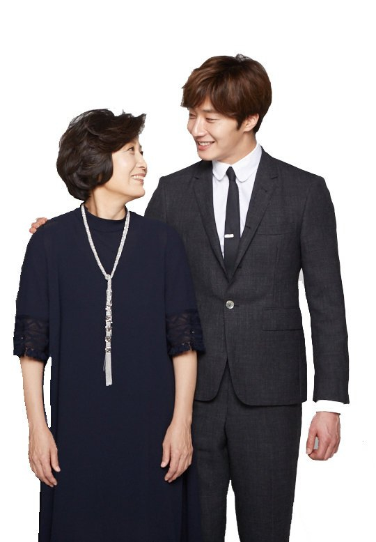 Jung Il-woo and his mom Mrs. Sim Yeonok 2017