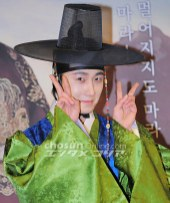 2012 1 2 Jung II-woo in The Moon that Embraces the Sun Press Conference 00010