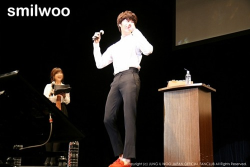 2012 9 9 Jung II-woo practicing for Smilwoo's Inauguration: Fanmeet Birthday 00005