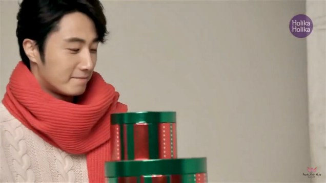 2013 10 9 Jung II-woo (and Park Shin-hye) for Holika Holika Take 2 00010