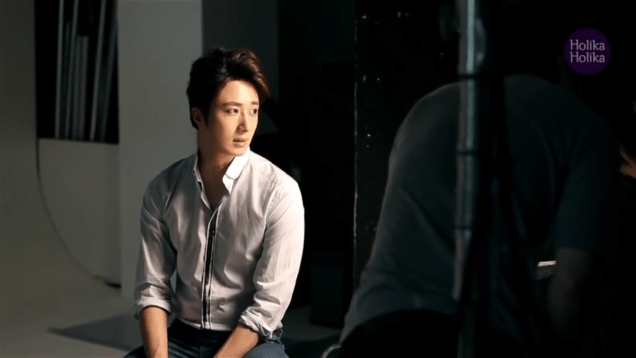 2013 10 9 Jung II-woo (and Park Shin-hye) for Holika Holika Take 2 00018