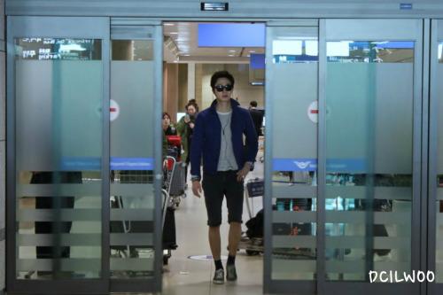 2013 2 22 Jung II-woo in Holika Holika Event in Myanmar (Airport Arriving back in Seoul) 00008
