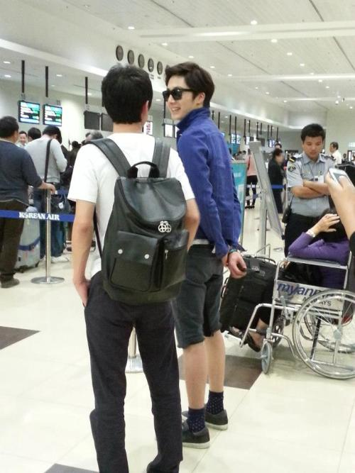 2013 2 22 Jung II-woo in Holika Holika Event in Myanmar (Airport Arriving back in Seoul) 00014