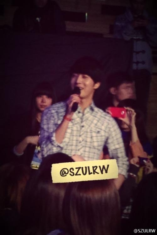 Jung II-woo at Taiwan's Fan Meeting 2012 12 8 Taken by Fans00006