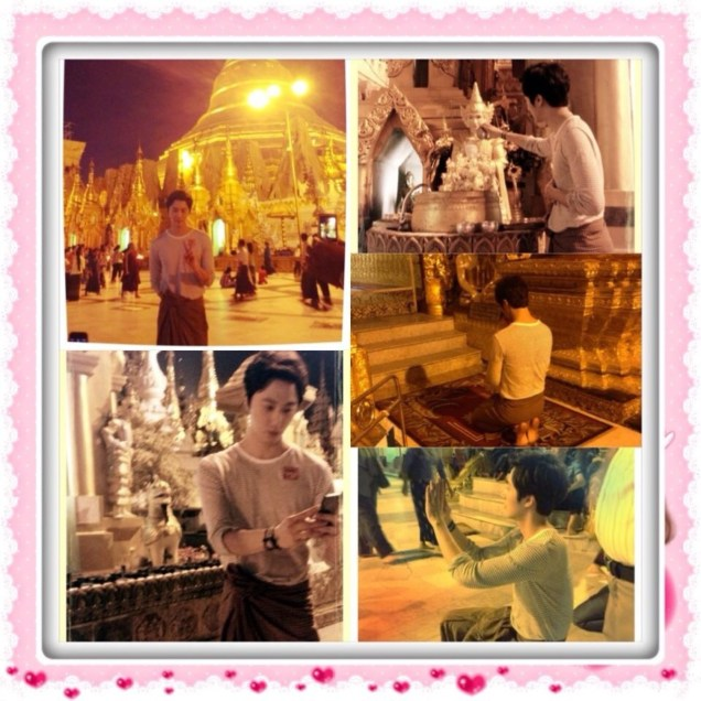 jung II-woo visiting the Temples of the Shwedagon Pagoda Complex in Yangon.jpg