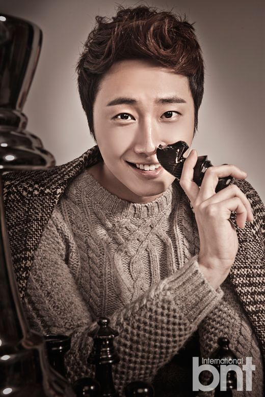 Jung II-woo in a BNT NEews Winter Chess Photo Shoot. 2013 12 21