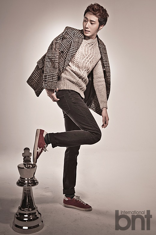 Jung II-woo in a BNT NEews Winter Chess Photo Shoot. 2013 12 27