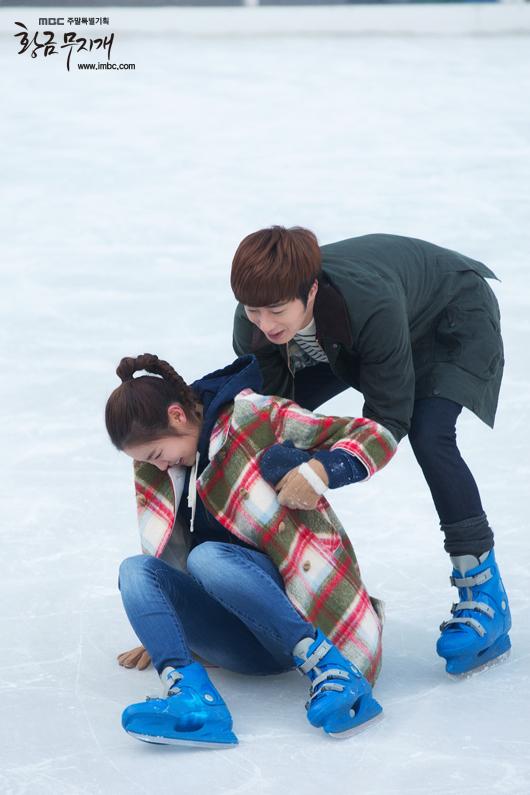 2014 Jung II-woo in Golden Rainbow Episode 23 Ice Skating 4