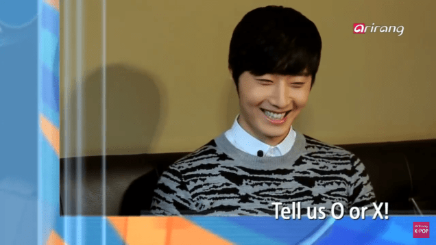 Jung II-woo in interview for Arirang TV. March 2014 12