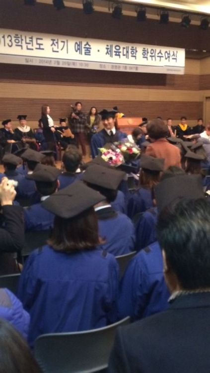 Jung II-woo's Graduation Hanyang University 2014 2 20 Fan Taken 6