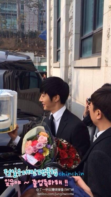 Jung II-woo's Graduation Hanyang University 2014 2 20 Fan Taken (Leaving the ceremony)5