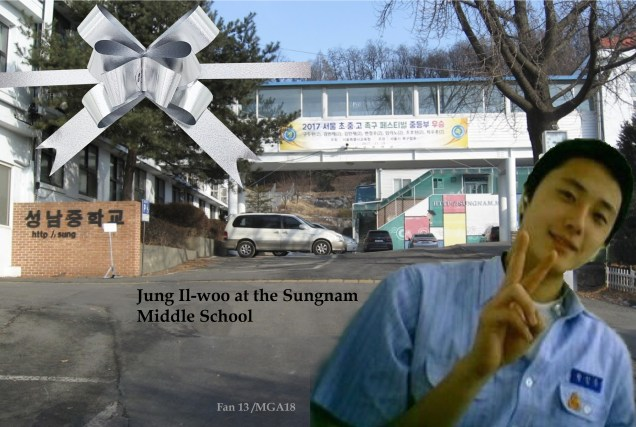Jung II-woo at Sungnam Middle School
