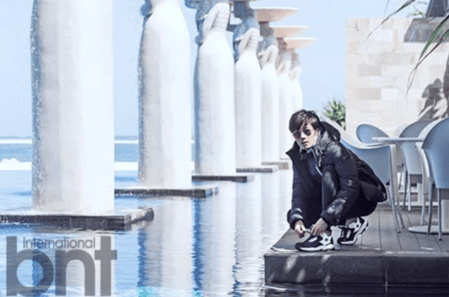 2014 11 Jung Il-woo in Bali Photo Shoot for BNT International. More with Logo 14