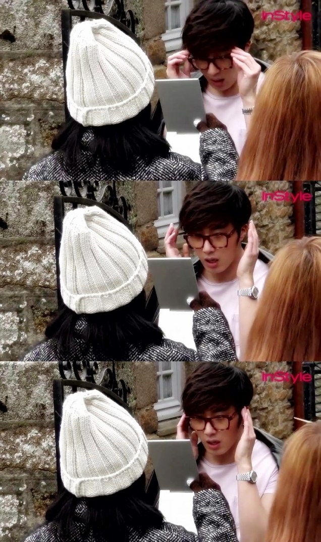 2014 12 Jung Il-woo for InStyle in France at Mont Saint Michel BTS 3