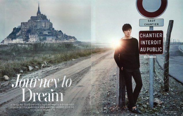 2015 3 Jung Il-woo at Mont Saint Michel for Style magazine Photo Shoot (Magazine layout) 1
