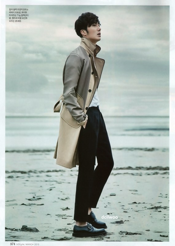 2015 3 Jung Il-woo at Mont Saint Michel for Style magazine Photo Shoot (Magazine layout) 5