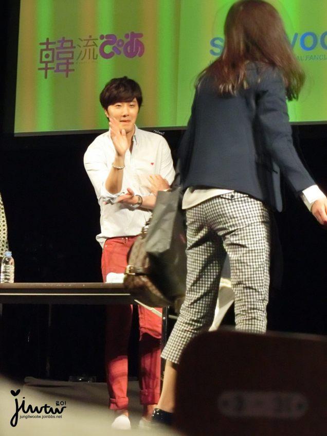 2015 4 25 Jung Il-woo in his Fan Meeting Rainbo-Woo in Tokyo, Japan. Fan Taken. Cr. On them 2