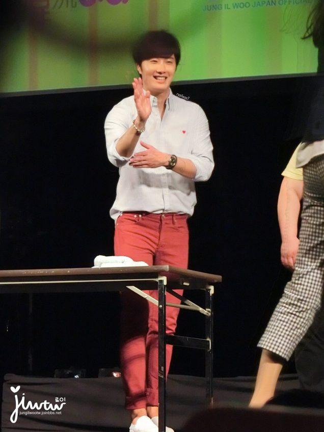 2015 4 25 Jung Il-woo in his Fan Meeting Rainbo-Woo in Tokyo, Japan. Fan Taken. Cr. On them 5